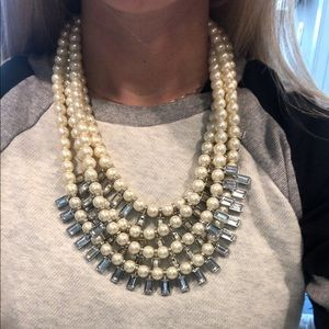 Four strand faux pearl banana republic necklace